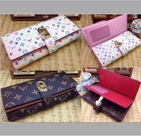 New Arrival . Elegant 1:1 Brand Fashion Genuine Leather Wallet for Women. High Quality . Free Shipping