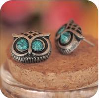 European and American Fashion Alloy Owl Earrings  Wholesale Cute animal earrings