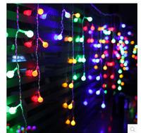 Holiday lights wholesale modern studio window coffee wedding lights flash 8 m hazy cherry LED lights