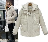 Famous brand Winter thick down&parkas Women solid color Warm parkas Coat zipper design Free shipping