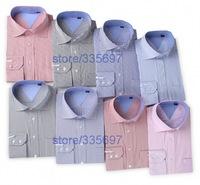 Free shipping 2014 High Quality men's casual Pinstripe shirts,Fashion lapel long sleeve shirt men,men Stripe shirts, M-XXXXL