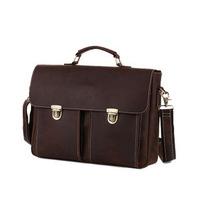 New Genuine Leather Brand Briefcase For Men Travel Bag 13 Inch Laptop Computer Bag Shouler Bag Messenger Bags Business Briefcase