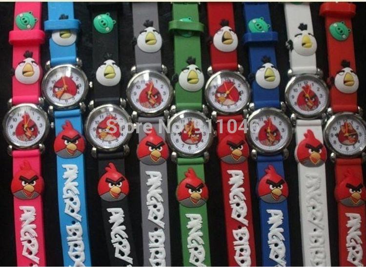 Dhl grátis frete promoção pássaro 3D Cartoon crianças meninos crianças Quartz relógios de pulso aluno relógios presente para o natal(China (Mainland))