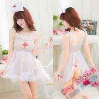 Free shipping sexy lingerie lace transparent pajamas arts uniforms nurse skirt suspenders beauty seductive enchanting plump