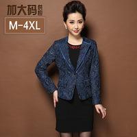 Plus size M-4XL Fashion Women Blazer,Elegant Slim Lace Embroidery mom's suit coat Ladies suits blazers Free shipping S8107J