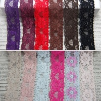 20 yards/lot  Hollow flowers 26mm width Elastic Stretch Lace trim DIY sewing/garment/clothes accessories Christmas wrapping belt