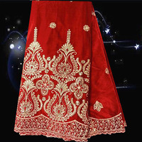 Item No.JV8-2,New arrival factory price soft velvet  lace fabric for wedding dress,latest lace fabric red color for wedding!
