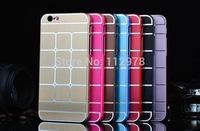 "Wholesale 1000pcs For iPhone 6 4.7"" Metal Aluminum Hard Back Chrome Case Cover"