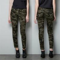Women Fashion Camouflage Pants Ladies'Casual Slim Pencil Denim Army Pants Plus Size XXL Spring Autumn Winter Pants
