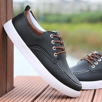 2014 autumn and winter male casual shoes boat shoes boys fashion leather skateboarding shoes popular male shoes