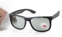 2015 New Designer Sunglass Fashiong Eyeglass Men's/Women's Brand 4165 JUSTIN Matte Black Sunglass Silver Mirror Lens Polarized
