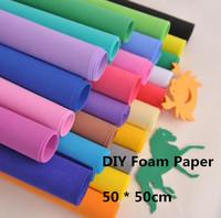 50*50cm*1mm Thick,24 colors option,EVA Sponge Paper,Foam Sheet,Punch Foam Crafts for scrapbooking,Easy to cut,School Project
