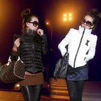Fashion 2014 New Down Short Design Autumn Winter Women Coat Cotton-padded Jacket Women Slim Solid Zipper Jacket Outerwear Women