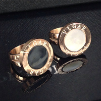 Wholesale  good quality rose gold plated stainless steel Exaggerated personality horn ring  BR0022