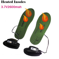 10pairs/lot, Wither Hot Sale 3.7V Electric Heating Heated Insoles With 2600MAh Lithium Battery On/Off Switch WARMSPACE