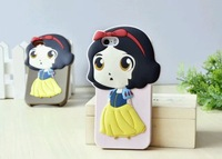 Free shipping 3D Snow White Girl Princess Silicone Case for iPhone 6 4.7 plus MOQ:1pcs