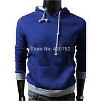 Spring Autumn Hot Sale 2014 New Mens Slim Pullover Hoodies Hooded Leisure Sweatshirt Casual Jacket Size L XL XXL