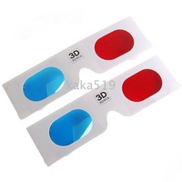 Disposible Anaglyphic Red + Blue 3D Glasses (Random Style)