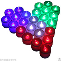 Battery-powered Flameless LED Tealight Candles 24pcs/Pack for Christmas Decor