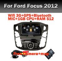 Free Camera+Map Car DVD GPS Player for Ford Focus 3 2012 2013 C-Max 2011 GPS Wifi 3G Car DVR 1GB CPU 512 RAM USB SD