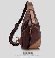 genuine leather messenger bags for men shoulder bag chest pack male