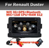 Free Shipping Car radio DVD GPS for Renault Duster GPS wifi 3G Bluetooth Radio RDS USB IPOD Steering wheel Free camera+Map