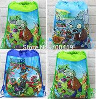 Wholesale 180pcs Plants vs. Zombies New Pattern Cartoon Printing Drawstring Backpack Kids School Shoulder Bag Shopping Bag