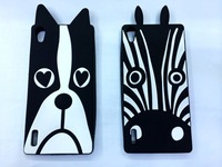 Animal Fashion 3D lovely Cute Cartoon Zebra Dog Soft Silicone Rubber Back Case For  Samsung Galaxy Grand Neo I9060 I9062 Cases