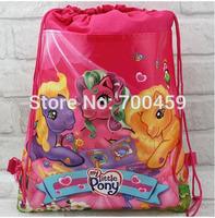 Wholesale 180pcs My little pony New Pattern Cartoon Printing Drawstring Backpack Kids School Shoulder Bag Shopping Bag