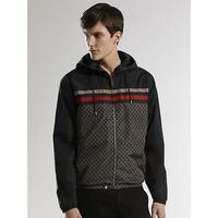 new luxury men hid hoodie jacket/classic grid Full zipper jacket/long sleeve windproof fashion outdoor casual Jacke
