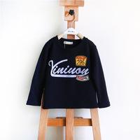 Free shipping 2014 Hot Sale Children Kids Clothing Tees Children Outwear kids t shirt 100% Cotton long-Sleeve Casual T-shirt