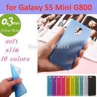 0.3mm Ultra Thin Slim Transparent Luxury Soft TPU Crystal Soft Cover Case for Samsung Galaxy S5 Mini G800