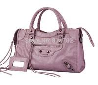 new designer branded 38cm black metal hardware motorcycle bag city women messenger bag bolsas genuine leather handbag