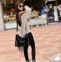 Hot selling !!! Back Blouse See Through Raglan Casual  Sexy Womens Sheer Mesh Long Sleeve Tops 88389