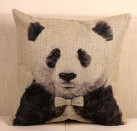 "Cute Cartoon Animal Panda Cotton Blend Linen Pillow Case Decor Cushion Cover Square 18"""