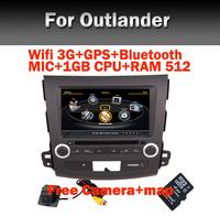 "8"" HD Car Radio DVD GPS for Mitsubishi Outlander Wifi 3G CPU1GB RAM512M Bluetooth Radio TV USB SD IPOD Free car Camera"