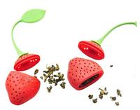Silicone Strawberry Design Loose Tea Leaf Strainer Herbal Spice Infuser Filter Tools