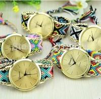 New Brand Handmade Braided Friendship Bracelet Watch GENEVA Hand-Woven Watch Ladies Watch
