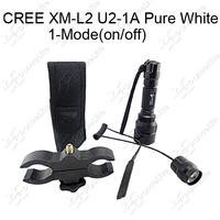 (Torch Set) 1800LM C8 CREE XM-L2 U2-1A 1-Mode(on/off) LED Hunting Flashlight Lamp + Gun Mount+Remote Switch+Holster