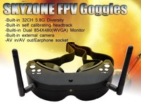 Free shipping Skyzone SKY01 FPV AIO Goggles 5.8GHz Dual Diversity 32 Channels Receiver With Head-Tracker for RC hexacopter drone
