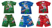 New boys girls cartoon ben-10 clothing set kids summer t-shirt+pants suits baby lovely leisure sleepwear set
