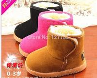 new  fashion winter 2014  cotton children's warm thicker   boots boy  girl shoes