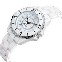 Design!SKONE Women'S Fashion Ceramic Strap Watch Quartz Watch Waterproof Watch Students