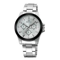 2015 New Design SKONE Luxury Brand Watch Men All Steel Strap Watch Leisure Sports Watch Fashion Quartz Watch