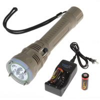 Super Bright TrustFire 4500Lm 3 x CREE XM-L2 LED 100m Diving Flashlight Torch + 2PCS 26650 Battery + Charger Flashlights Torch