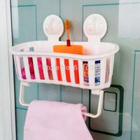 Shelf Large bathroom storage rack bathroom suction cup towel rack