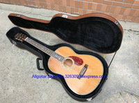 2015 Deluxe Handmade Classical acoustic guitar 6 strings Real abalone inlays Big flowers fretboard classical acoustic guitar