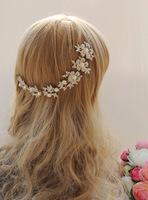 Bride pearl rhinestone the bride hair accessory strip-line soft the wedding hair accessory wedding accessories