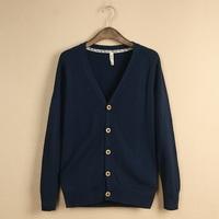 Men's new thin sweater coat fashion male knit Cardigan