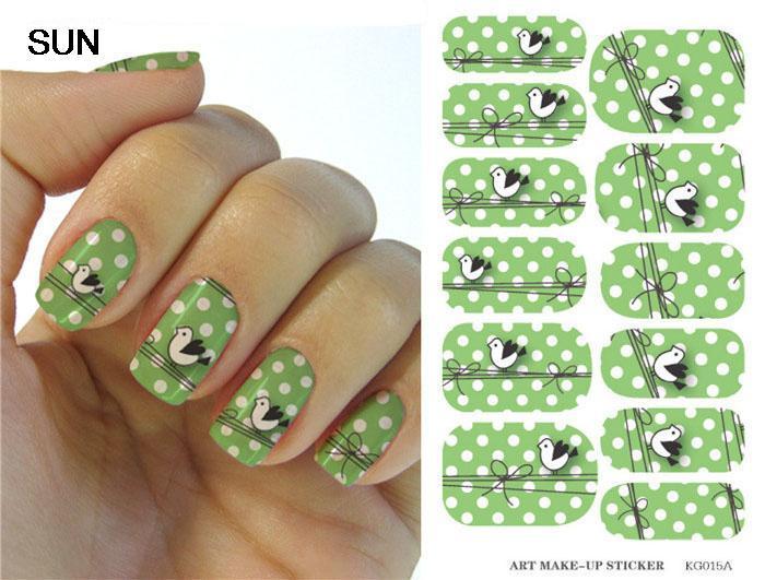 Minx vert, manucure ongles décorations enveloppements décalcomanies